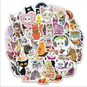Accessories - 50Pc Brand New Adorable Cat Kitten Random Stickers